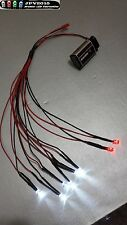 RC LED Light kit for radio control car truck plane 6 White 2 Red 5mm 6W2R