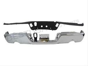 For 09-17 Ram 1500 Rear Step Bumper Chrome Assy W//O Sensor W// Dual Exhaust