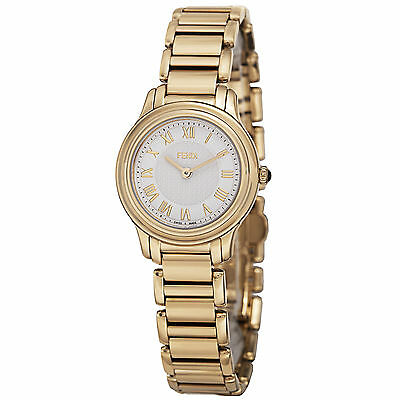 Fendi Women's Classico White Dial Gold Tone Stainless Steel Watch F251424000