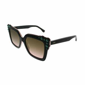 c0da7a48eebb3 Details about Fendi Can EYE FF 0260 3H2 53 Black Pink Plastic Sunglasses  Brown Gradient Lens