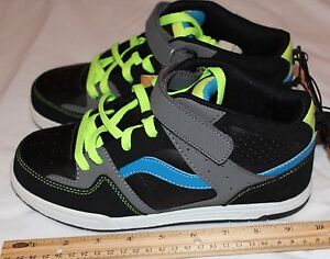 Op-Boys-Youth-Size-5-Athlethics-Black-Neon-Yellow-Grey-Blue-Item-4