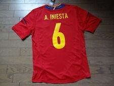 Spain #6 Iniesta 100% Original Soccer Jersey Shirt M 2012 Home BNWT NEW