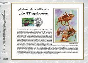 FEUILLET-CEF-DOCUMENT-PHILATELIQUE-ANIMAUX-LE-MEGALOCEROS-2008-PARIS