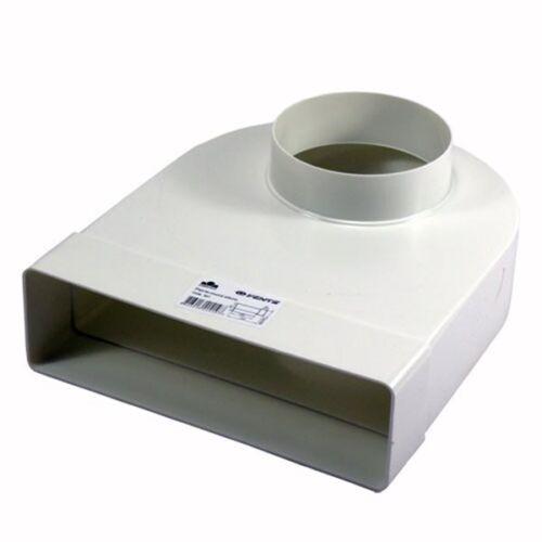 Übergangsstück,Adapter,rund/rechteckig-90°, Abluftrohr, Flachkanal, Lüftungsrohr
