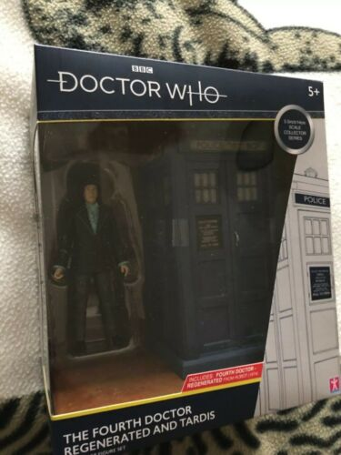 Doctor Who  Fourth Doctor Regenerated And Tardis Collector Figure Set