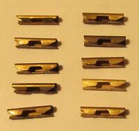 10 Brass Slot Car Track Joiners For Atlas Or Lionel Ho, Unused