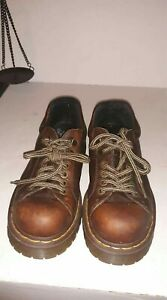 dr doc martens 8312 brown leather 6eye casual chunky