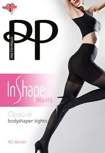 4d6cc3a5f79 Image is loading Pretty-Polly-In-Shape-Opaque-Bodyshaper-Tights-40-