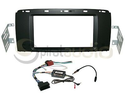 Radio Dash Kit Combo Standard 2DIN SATIN BLACK + SWC Harness + Antenna MB53