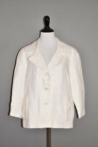TALBOTS-NEW-169-White-Linen-Blazer-Jacket-The-Jackie-Fit-Size-8