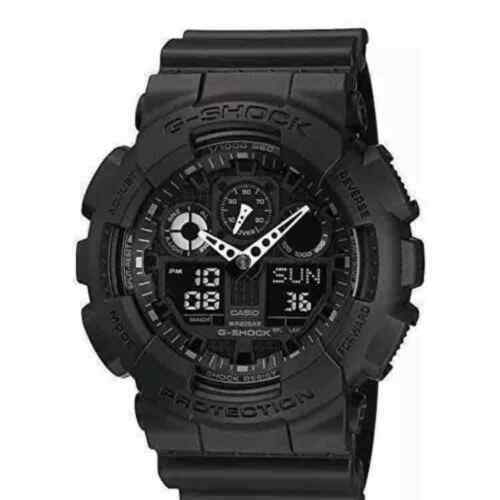 Casio G-Shock Black Lmited Edition GA100-1A1 Military Casual Unisex Men New