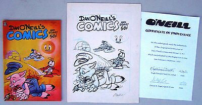 Dan O'neill's Comics And Stories #2 Coa Original Cover Art Plus Comic 1971 Extremely Efficient In Preserving Heat