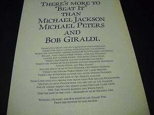 MICHAEL-JACKSON-Michal-Peters-amp-Bob-Giraldi-BEAT-IT-1984-PROMO-DISPLAY-AD-mint