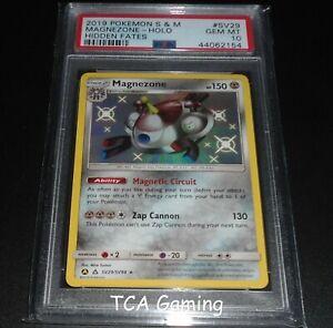 PSA-10-GEM-MINT-Magnezone-SV29-SV94-SM-Hidden-Fates-SHINY-HOLO-Pokemon-Card