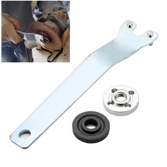 Metal Angle Grinder Flange Spanner Wrench Kit For Grinder W// Lock Nut Tool
