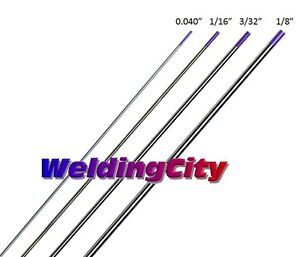 "10-pk TIG Welding Tungsten Tri-Element Non-Radioactive Purple 1//16/""x7/"" US Seller"