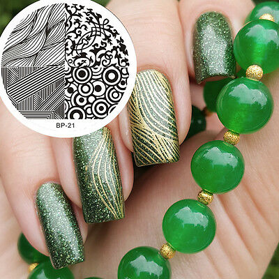 Nail Art Stamp Template 4 Mixed Design Image Stamping Plate BORN PRETTY 21