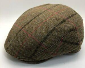 4a136b9bf5f Image is loading Failsworth-Gamekeeper-Tweed-Flat-Cap-100-Wool