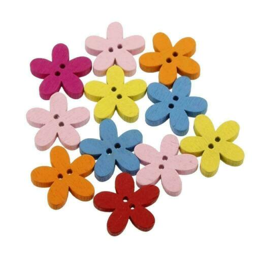 Cards TI Y6X1 Colored Wooden Plum Buttons Crafts Perfect For Scrapbooking