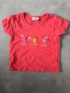 T-shirt-manches-courtes-rouge-taille-4-ans-SERGENT-MAJOR