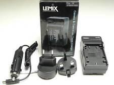 Lemix UK & EU Mains & Car Battery Charger - JVC VF808 VF815 VF823