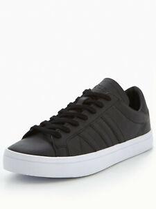 Adidas-Cour-Vantage-Baskets-Homme-ADIDAS-homme-en-cuir-classique-Cour-Chaussures-Noir