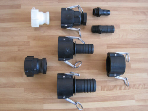 IBC Tank Tap Adaptor Camlock Fitting IBC Tap Water Oil Fuel Container Hose Tail