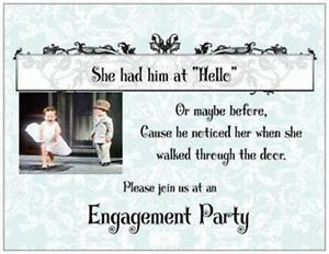 20-Wedding-ENGAGEMENT-Party-INVITATIONS-Cards-POSTCARDS
