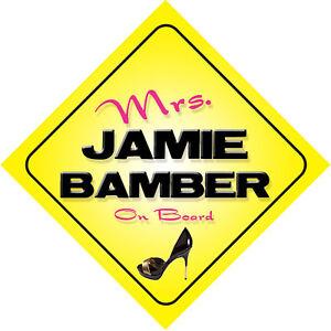 Mrs-Jamie-Bamber-On-Board-Car-Sign-Battlestar-Galactica