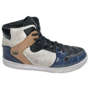 RARE-Color-SUPRA-Vaider-Skytop-Navy-Blue-White-Sneakers-Mens-Shoes-Hi-tops-12
