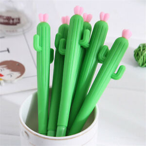 2-x-0-5mm-Cactus-Gel-Pens-Cute-Gift-Kids-Pen-School-Student-Office-Stationery
