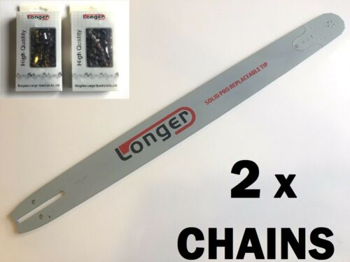 """Details about  /24/"""" CHAINSAW BAR for HUSQVARNA 3//8 058 /& 2 x CHAIN FULL CHISEL"""