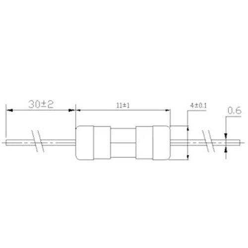 20Pcs 3.6mm X 10mm Rápido Blow 3.6 X 10mm Fusible de vidrio tubo de plomo axial 250V F 3.15A