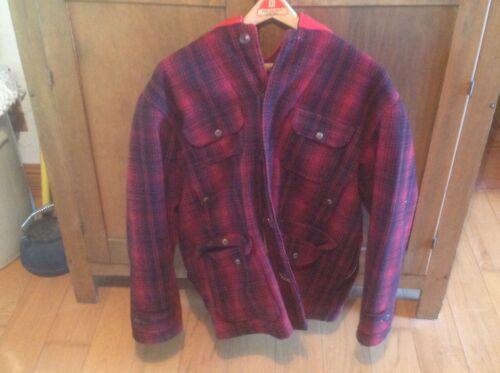 Vintage Woolrich woolen mills Red & Black Plaid Wo