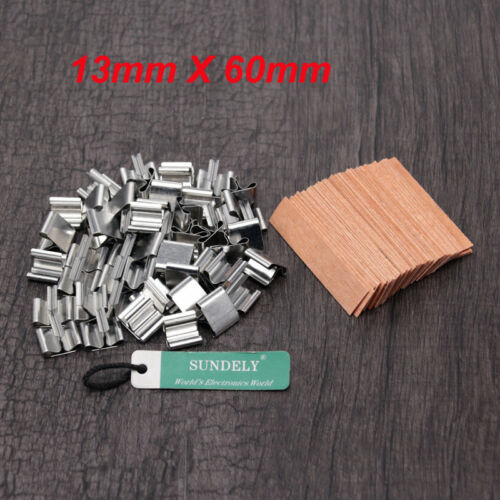 Nerw 50pcs Wood Gift Candles Core Wick Candle Making Supplies with Iron Stands
