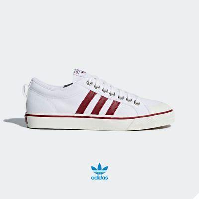 Adidas Originals Nizza Shoes CQ2328 Athletic White Red Red SZ 4 12 | eBay