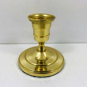 Vintage-Brass-Candlestick-8cm-Tall-Felt-Base