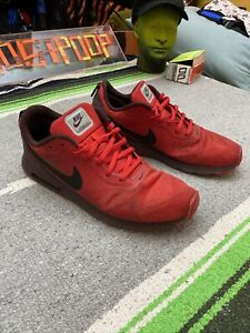 Nike Air Max Tavas Men's Running Shoes in Red/Black, 705149-601, Used Sz 12