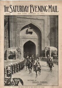 1912-Saturday-Evening-Mail-January-13-King-and-Emperor-of-India-Chinese-Patriots