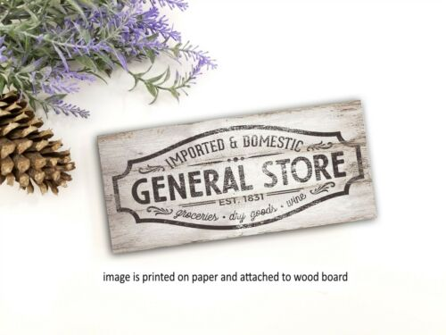 General Store farmhouse sign wood rustic  home decor  family sign PRINT pj