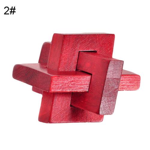 Am /_ Holz Chinese Puzzle Kongming Lauban Schloss Kinder Rätsel Bildungs