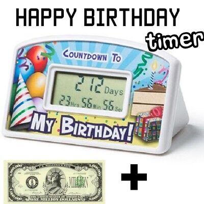 Happy birthday countdown desktop timer clock 1 million bill bonus great gift 718856151288 ebay - Birthday countdown wallpaper ...