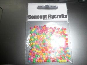 Assortiment De 200 3 Mm Mixtes Plastique Perles Fly Tying Kit Lot Bloodworms Lures-afficher Le Titre D'origine