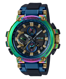 4a247d22e976 G-SHOCK MTG-B1000RB-2AJR 20th anniversary 2019 NEW rainbow model ...