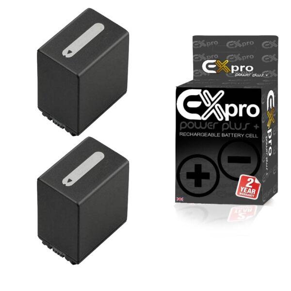 2 X Ex-pro Battery 2200 Mah For Sony Np-fv100 Caméscope Np-fv30 Np-fv50 Np-fv70