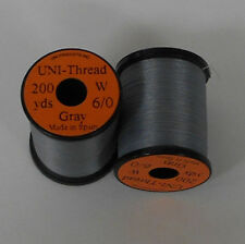 200yd Spool Fly Tying Workhorse of fly tying threads Uni Waxed 6//0 Thread