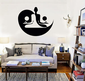 Vinyl Decal Yin Yang Yoga Meditation Bedroom Decor Wall Stickers
