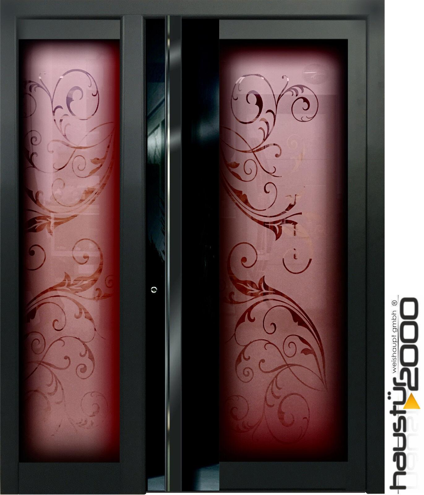 HAUSTÜR2000® Aluminium Haustür Glas Tür Alu Haustüren nach Maß Mod. HT 551 RSGLA