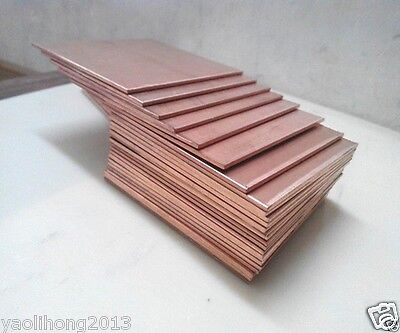 3pcs Copper Metal Sheet Cathode Plate for Hull Cell 0.25 x 100x 65mm 3pcs