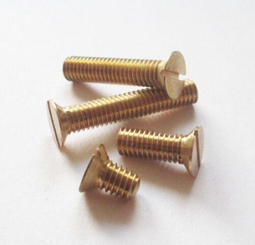 UK Manufacturer Model Engineering 14 BA Brass Countersunk Screws // Bolts 20pk